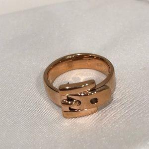 MK rose gold ring